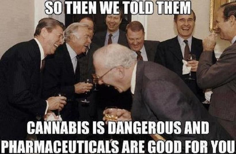Why Marijuana Advisory Group Formed in New Presidency? Men in suits laughing.
