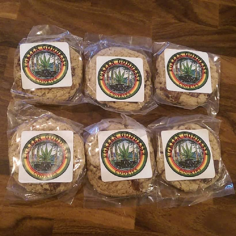 Tips to Enjoy Marijuana Edibles Safely. Cookies on a wood table.