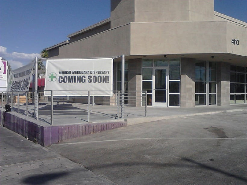 Medical Cannabis Guide You Need For Las Vegas. Dispensary coming soon sign.