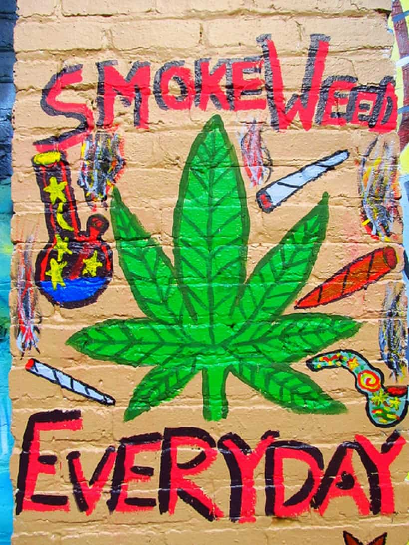 How to Ask Someone If They Smoke Pot. Weed graffiti.