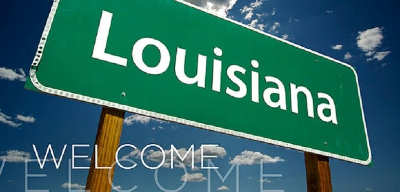 THC University in Louisiana. Louisiana street sign.