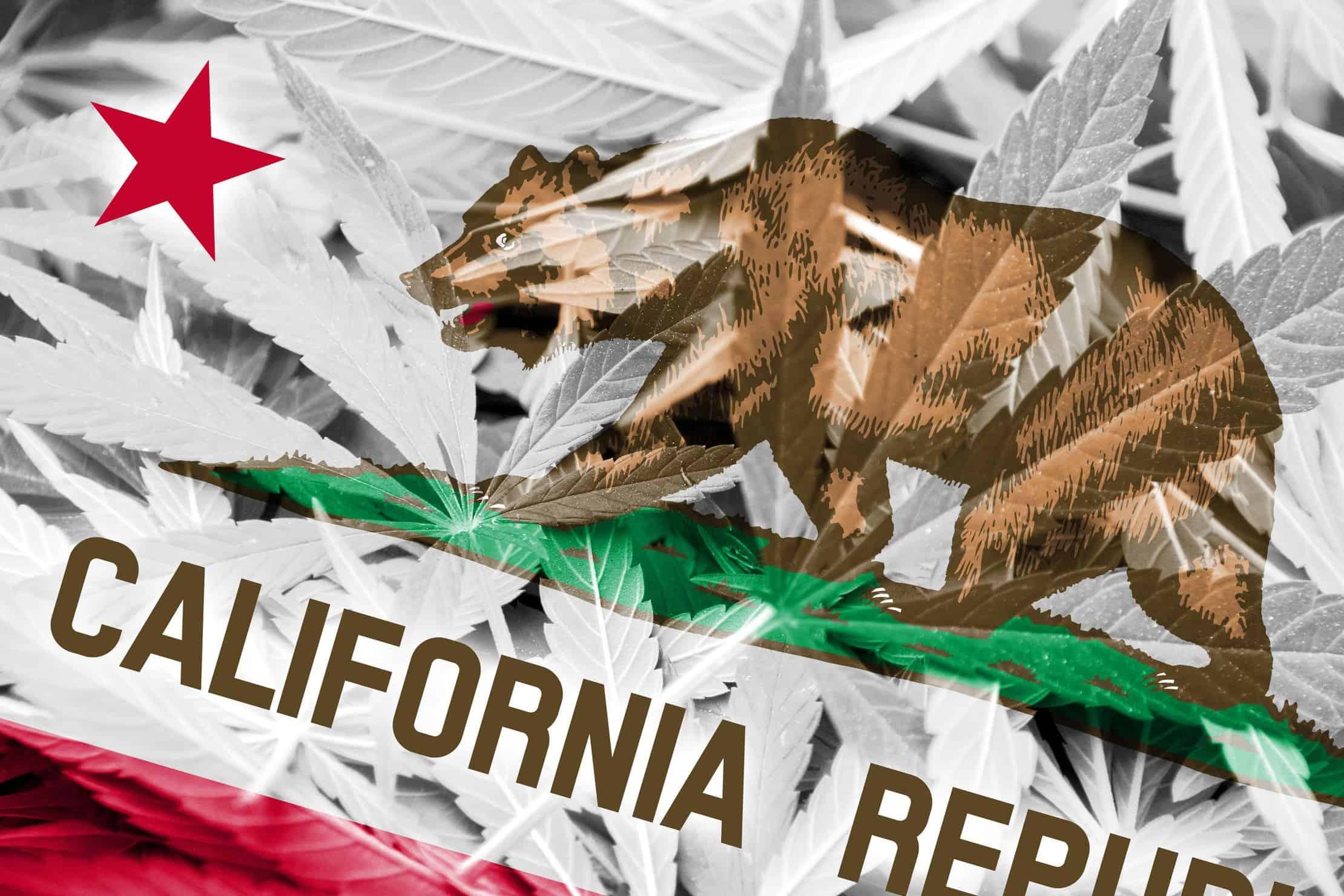 Changes to California Marijuana Access in 2018. California Republic flag.