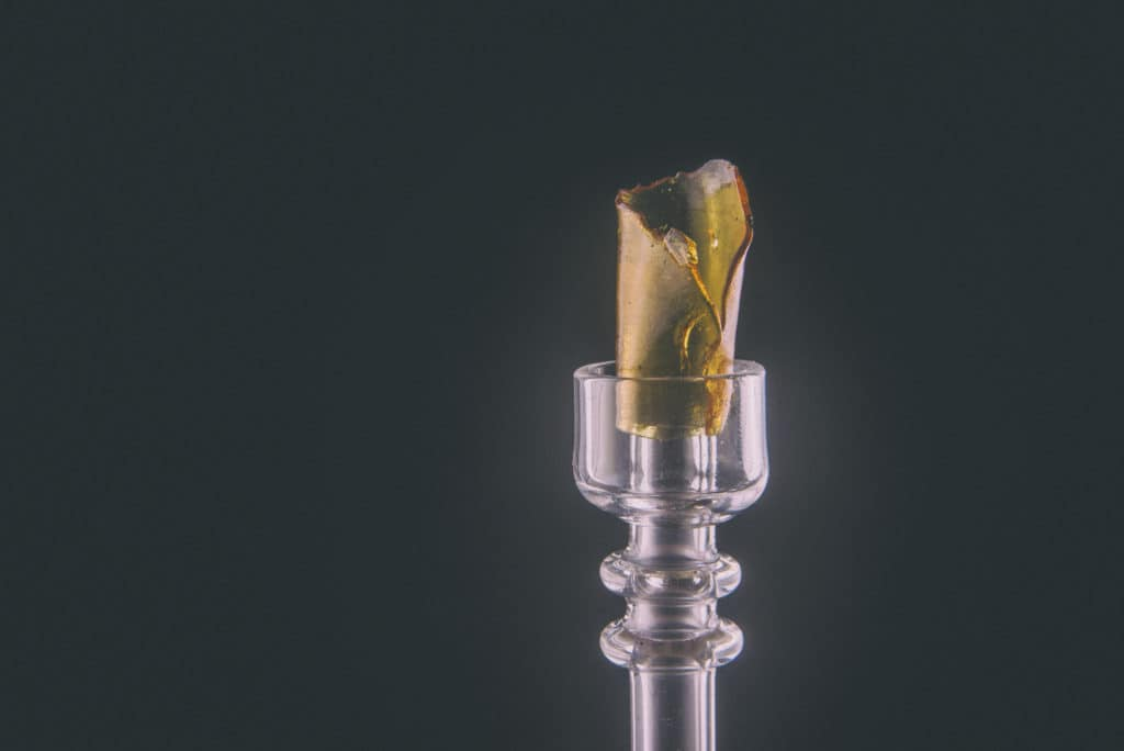 Benefits of an Oil Rig. Dab rig with black background.