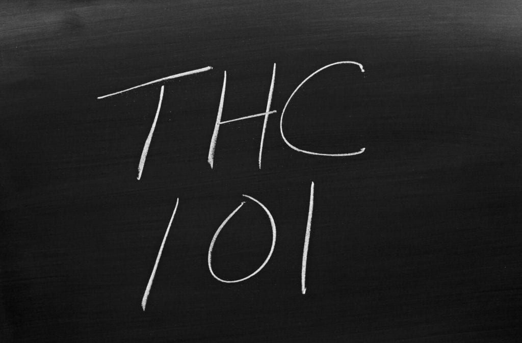 Plan Your Summer Marijuana Training Now. THC 101 on a blackboard