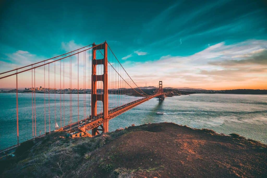 Golden Gate Bridge in SF. Medical Marijuana Card in California