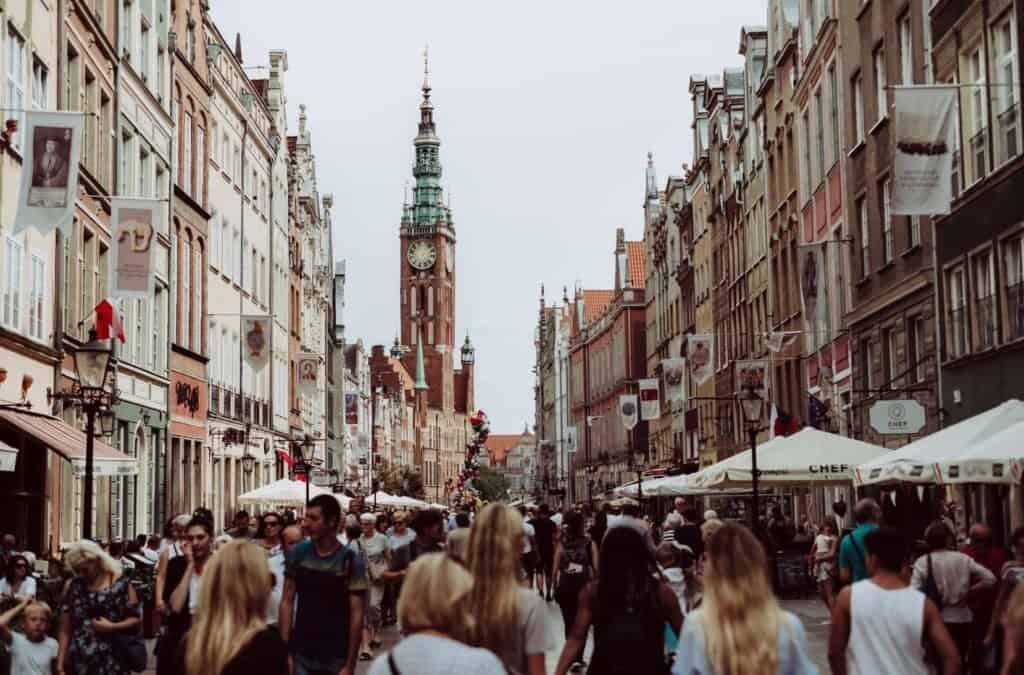 Poland city view. Cannabis and Hemp laws in Poland