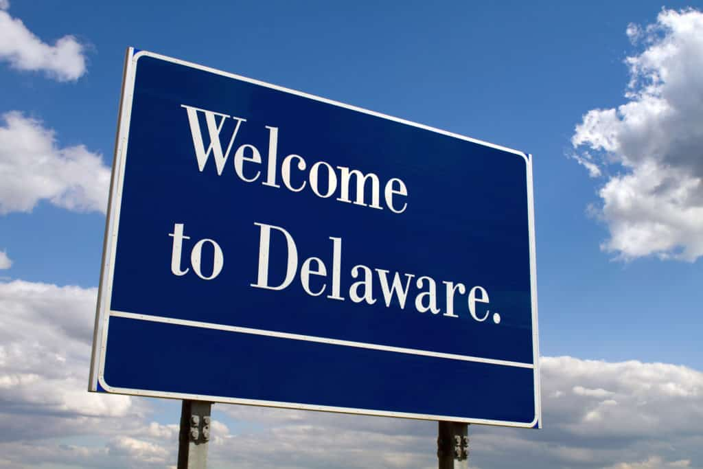 Welcome to Delaware sign. Medical cannabis cards Delaware.