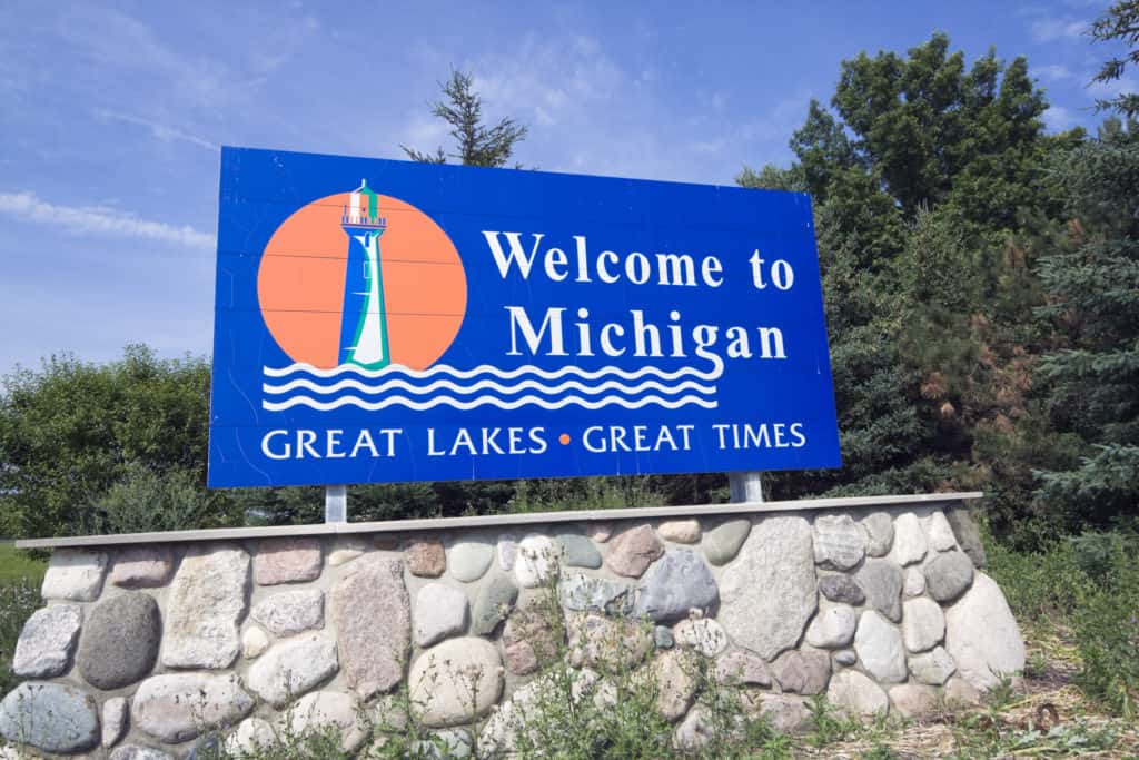 Welcome to Michigan sign and how to apply for a medical cannabis card in Michigan