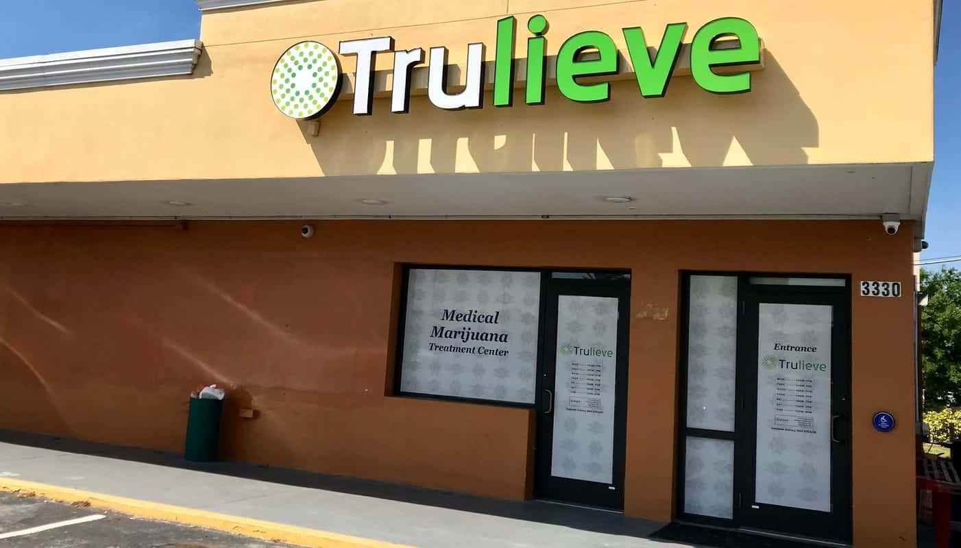 Trulieve Deerfield Beach Weed Shop. Trulieve Dispensary Building
