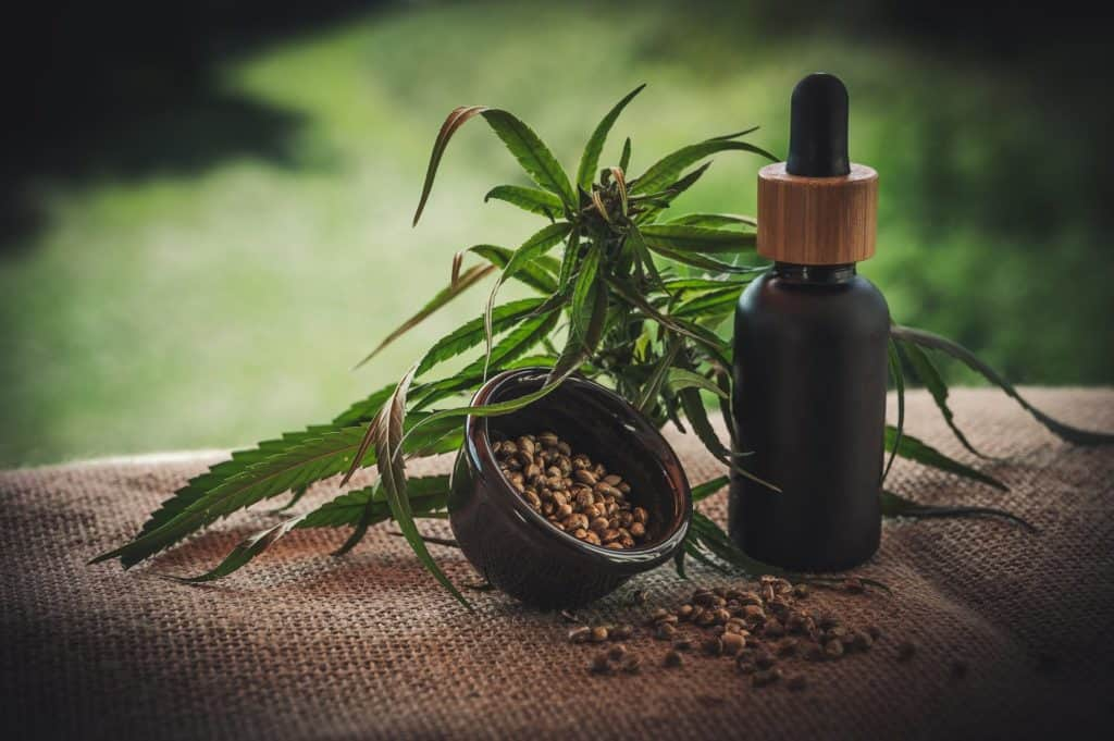 How Marketing CBD Online can help Beat Your Competitors. Cannabis leaves with cbd tincture.