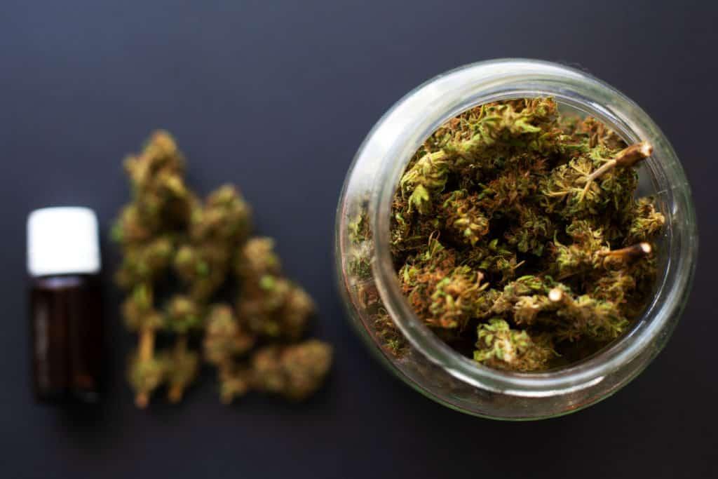 cannabis in a jar
