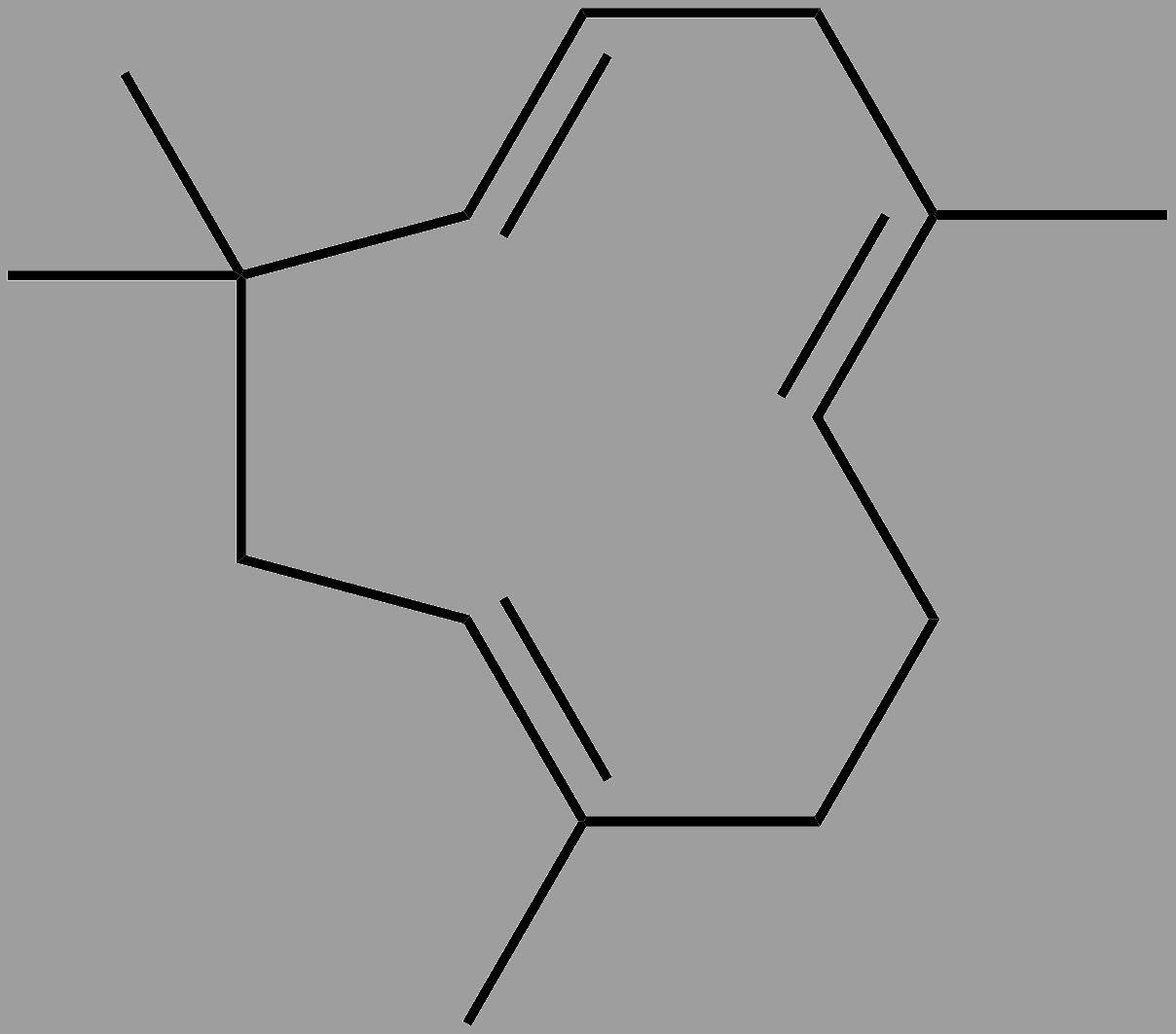 Marijuana Terpenes: A Review of Humulene. Humulene cell structure.