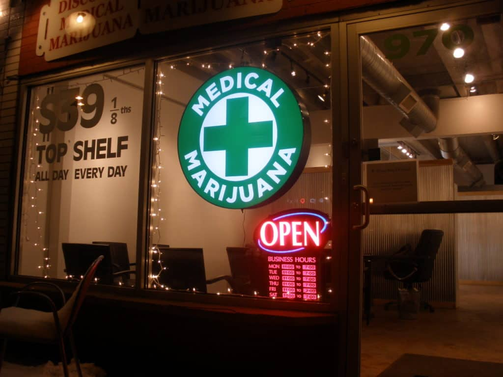 Tokyo Smoke Products, Reviews, and Specials. Medical Marijuana sign.