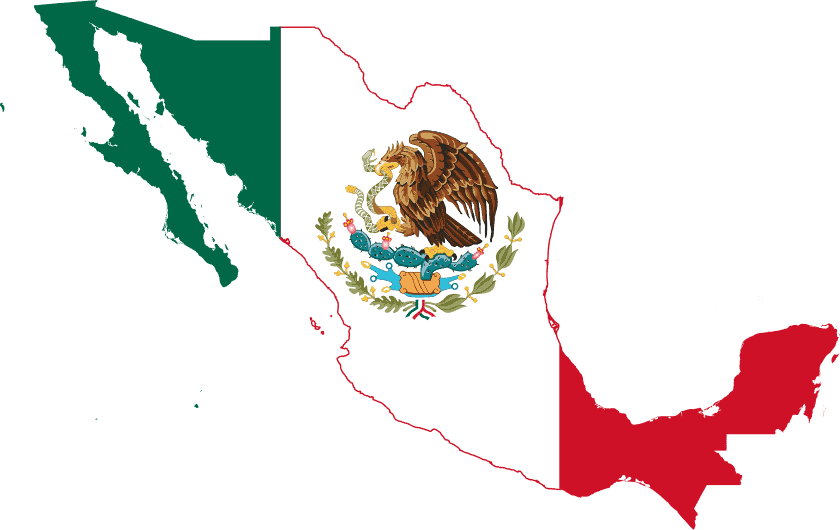 Recreational Cannabis Laws in Mexico. Mexico State flag.