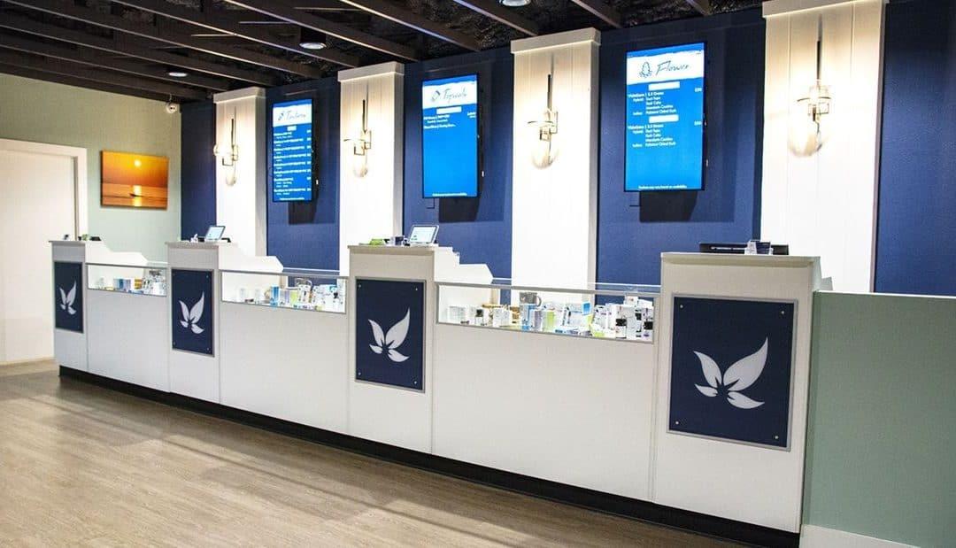 A Comprehensive Guide of VidaCann. Dispensary counter.