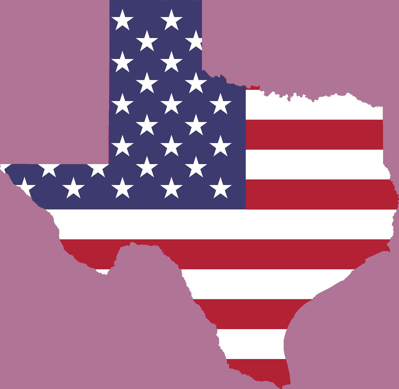 Is Hemp Legal in Texas? American flag cut out like Texas.