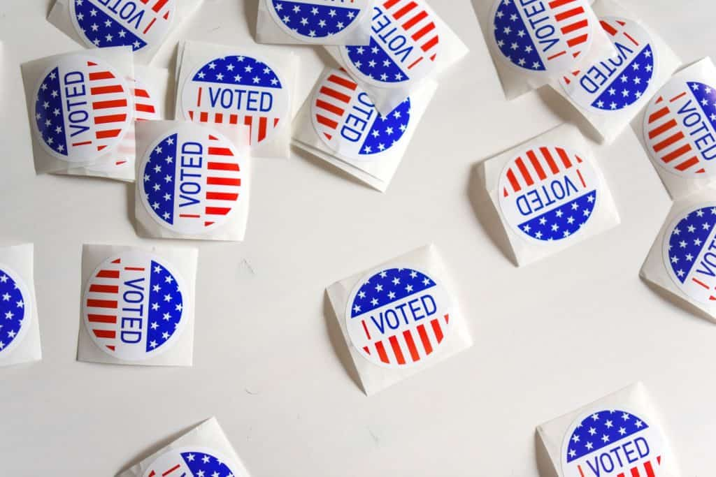 Marijuana On The Ballot In 5 States: Our Predictions. I voted stickers.