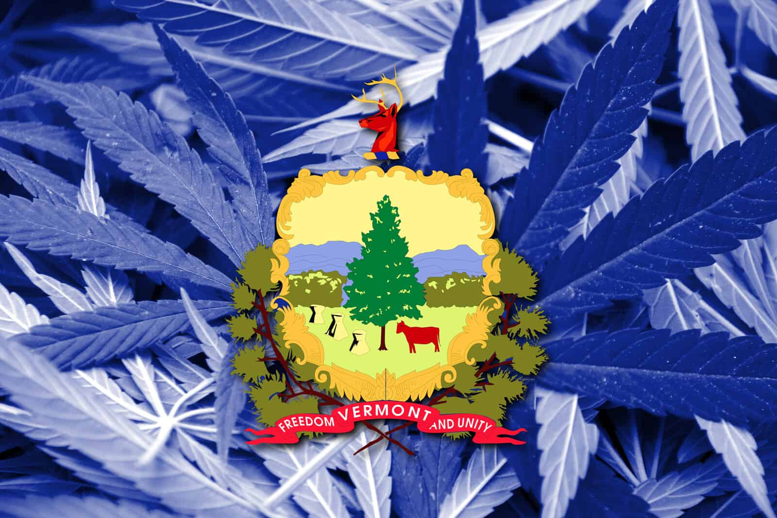 Is Marijuana Legal In Vermont? Vermont state sign.