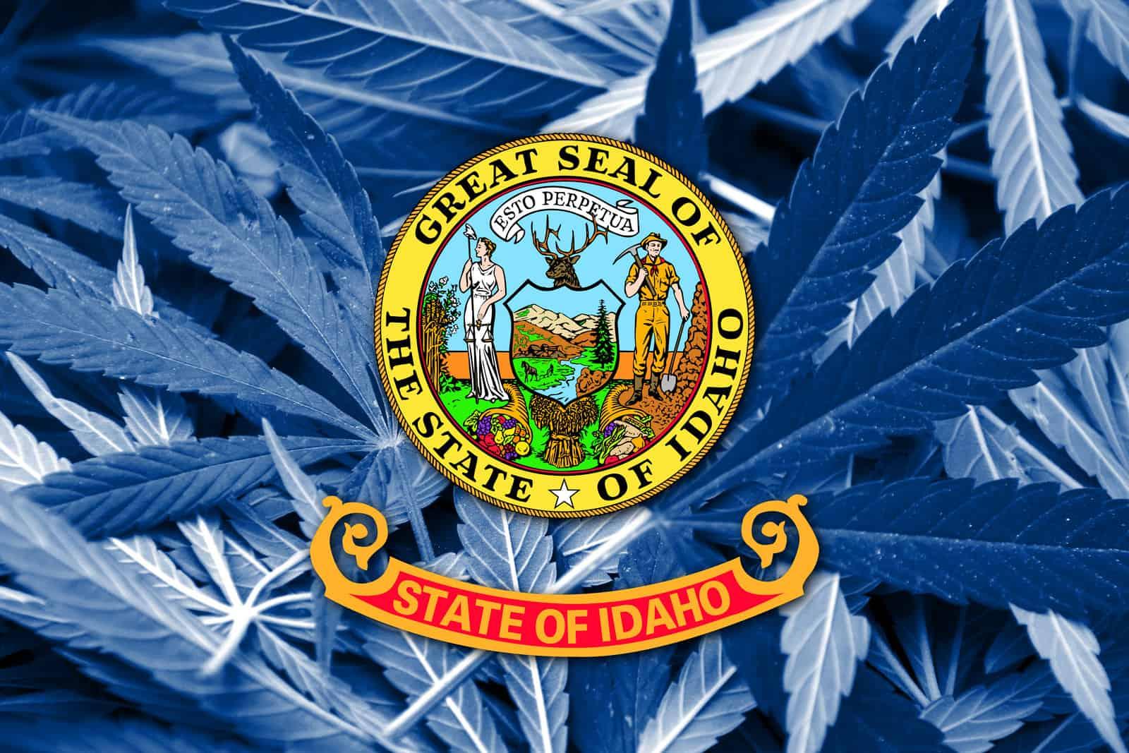 Is Cannabis Legal in Idaho? Idaho state flag.