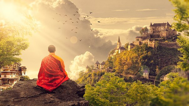 Should You Use For Marijuana For Meditation? A Buddha overlooking town.