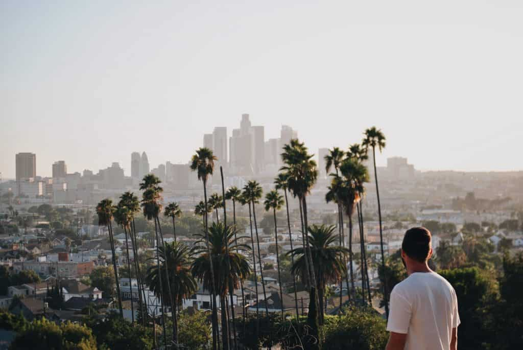How to Get Dispensary Jobs in Los Angeles. Los Angeles city skyline view.