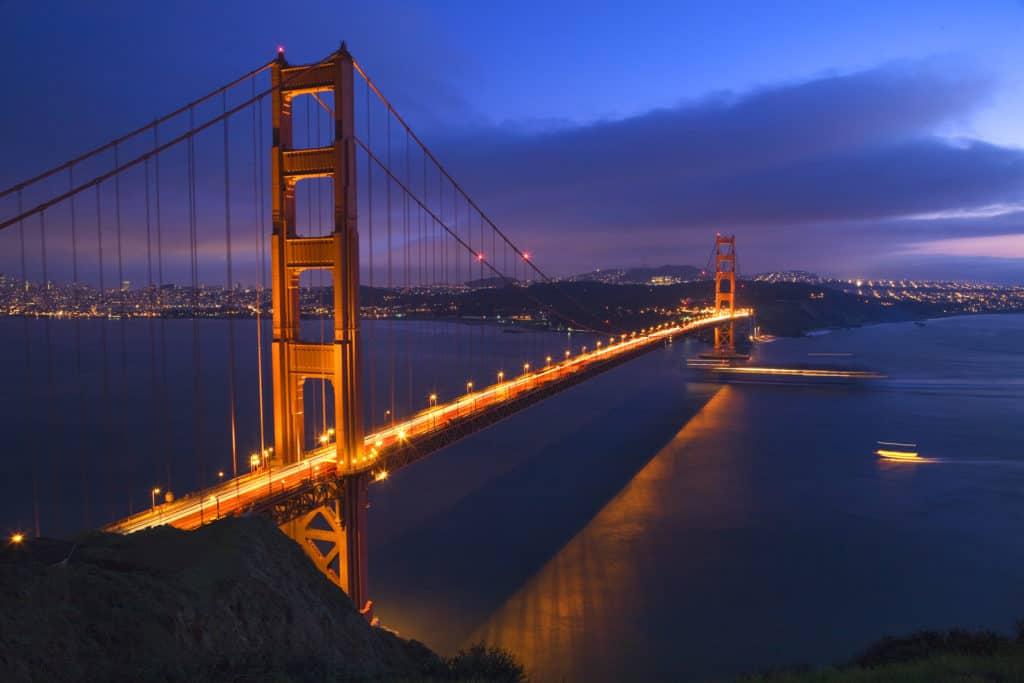 A bridge in California. Budtender certification.