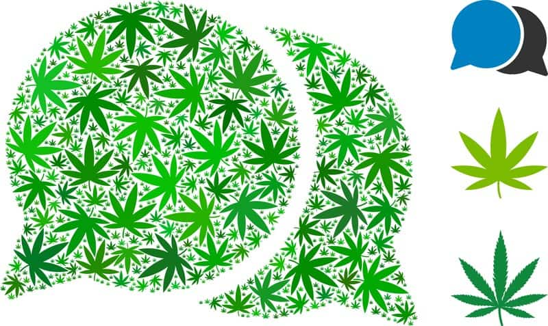 Best sites for cannabis guest posts brainstorming clouds.