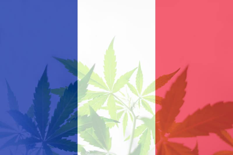 France close to legalizing cannabis with the flag.