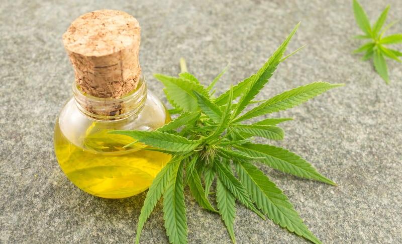 PHO wax and a marijuana leaf