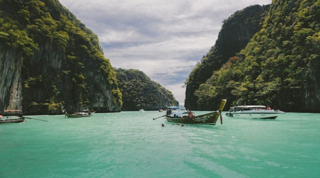 River running through Thailand at the Cannabis College