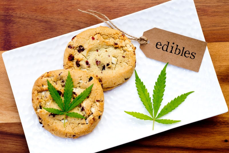 Marijuana-Infused Food Recipes made on a white plate