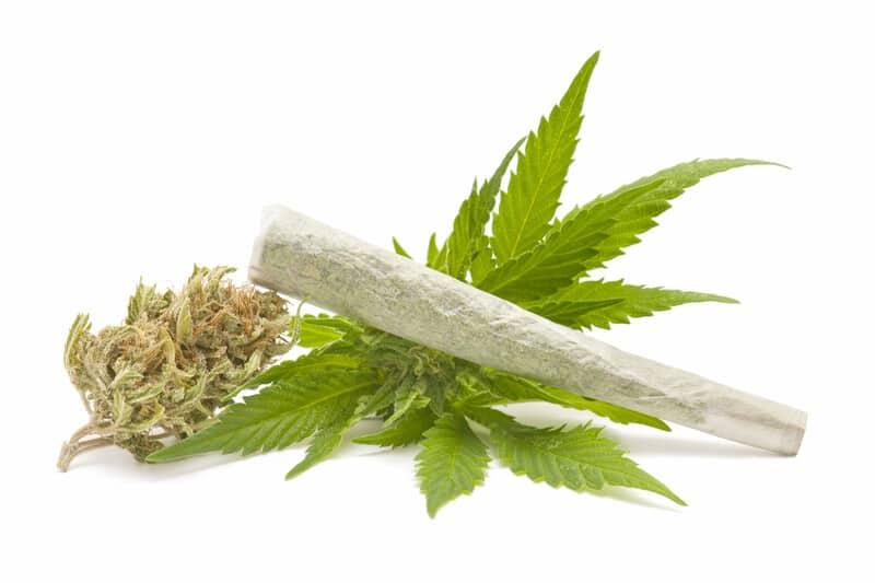 CBD Cigarette onto of cannabis.