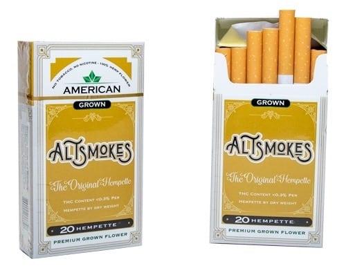 AltSmokes Premium Hemp Cigarettes