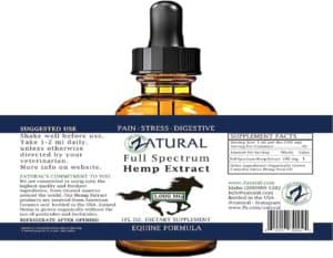 zatural hemp oil package with brown bottle