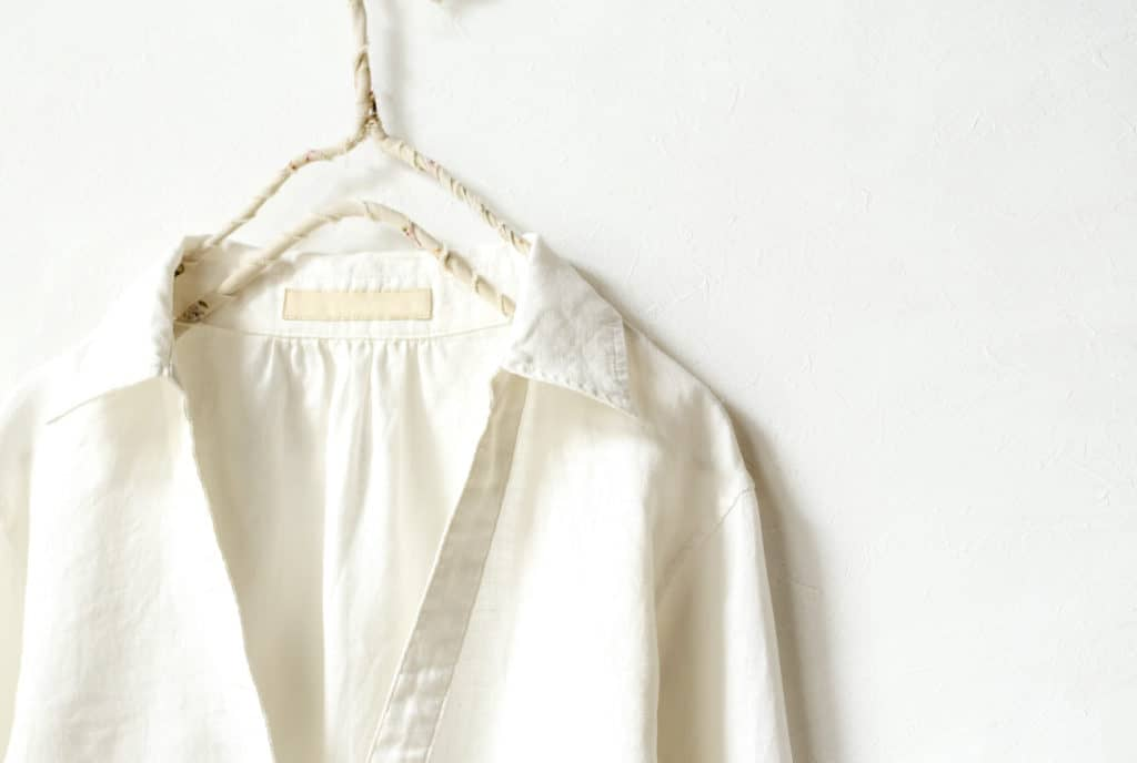 Hemp t shirts on hanger