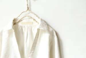 Hemp t shirts on hanger