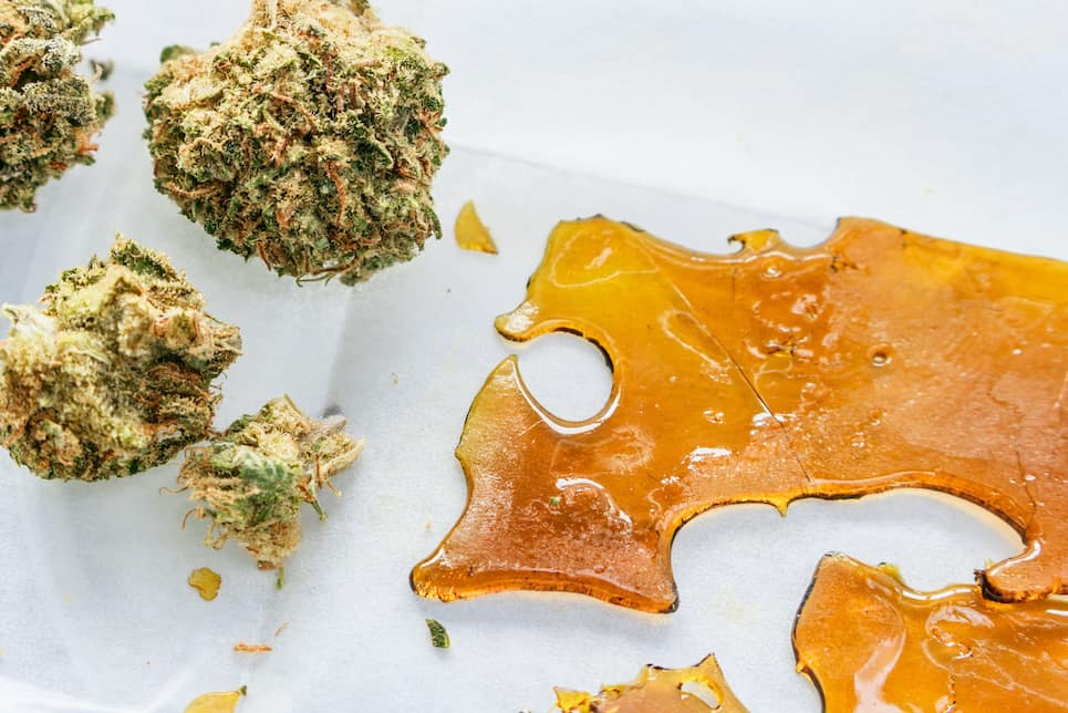 cannabis buds and wax, wax thc percentage guide