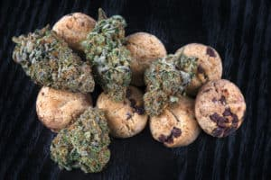 Cannabis nugs (forum cut cookies strain) and infused chocolate chips cookies strain
