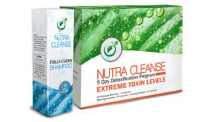 nutra cleanse products on white background