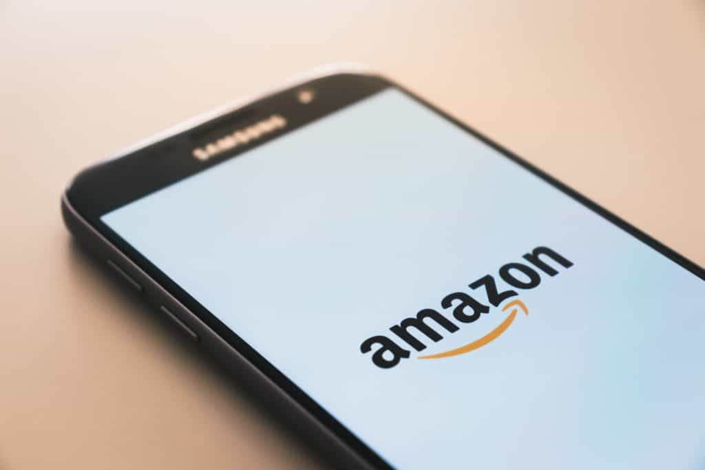 cellphone with amazon app on it, amazon supports legal cannabis