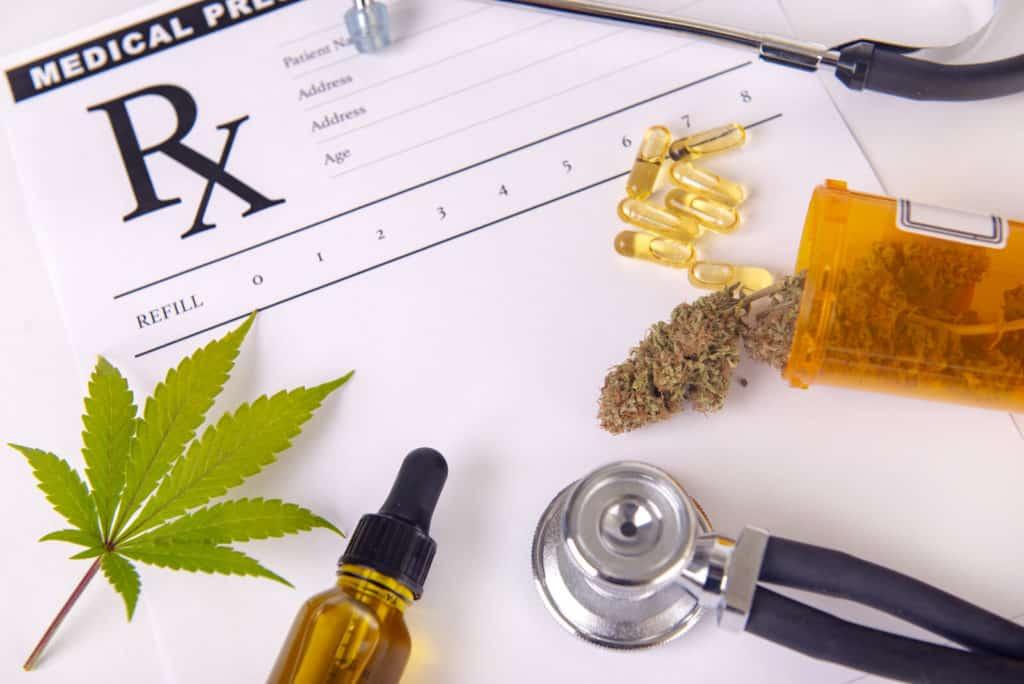 marijuana products next to a prescription pad, Texas medical marijuana laws