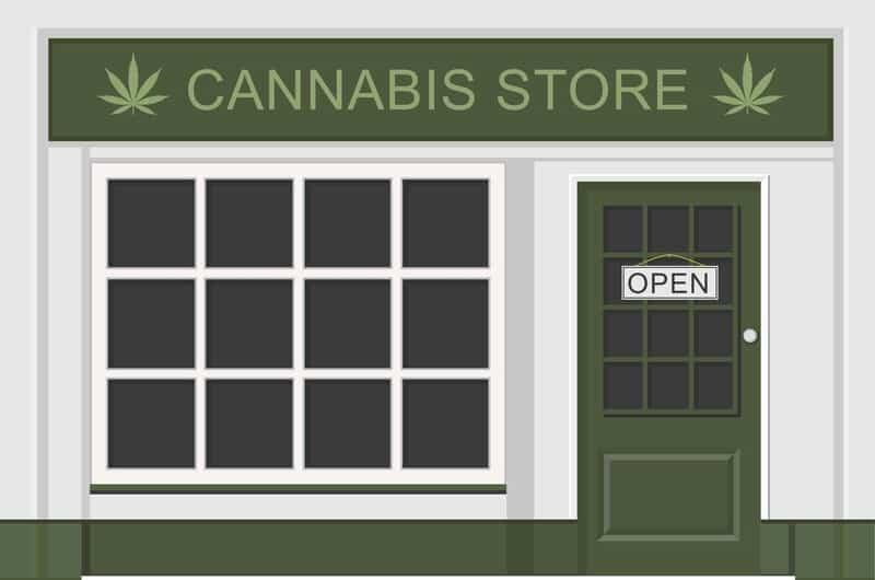 cannabis store cartoon, dispensary technician