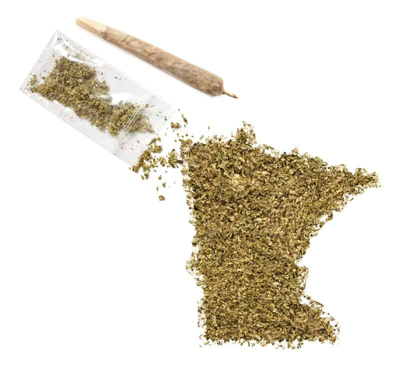 outline of Minnesota in weed, Minnesota marijuana legalization