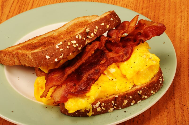bacon and egg on toast, marijuana edible recipes